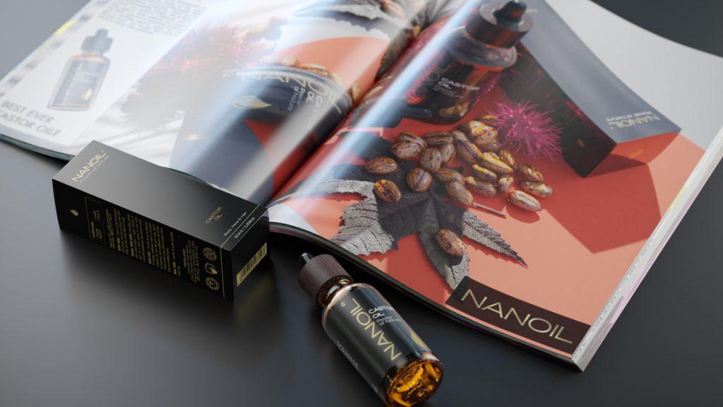 nanoil castor oil hair oil bottle