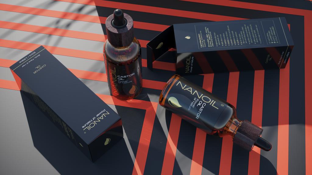 naonoil castor oil two bottles